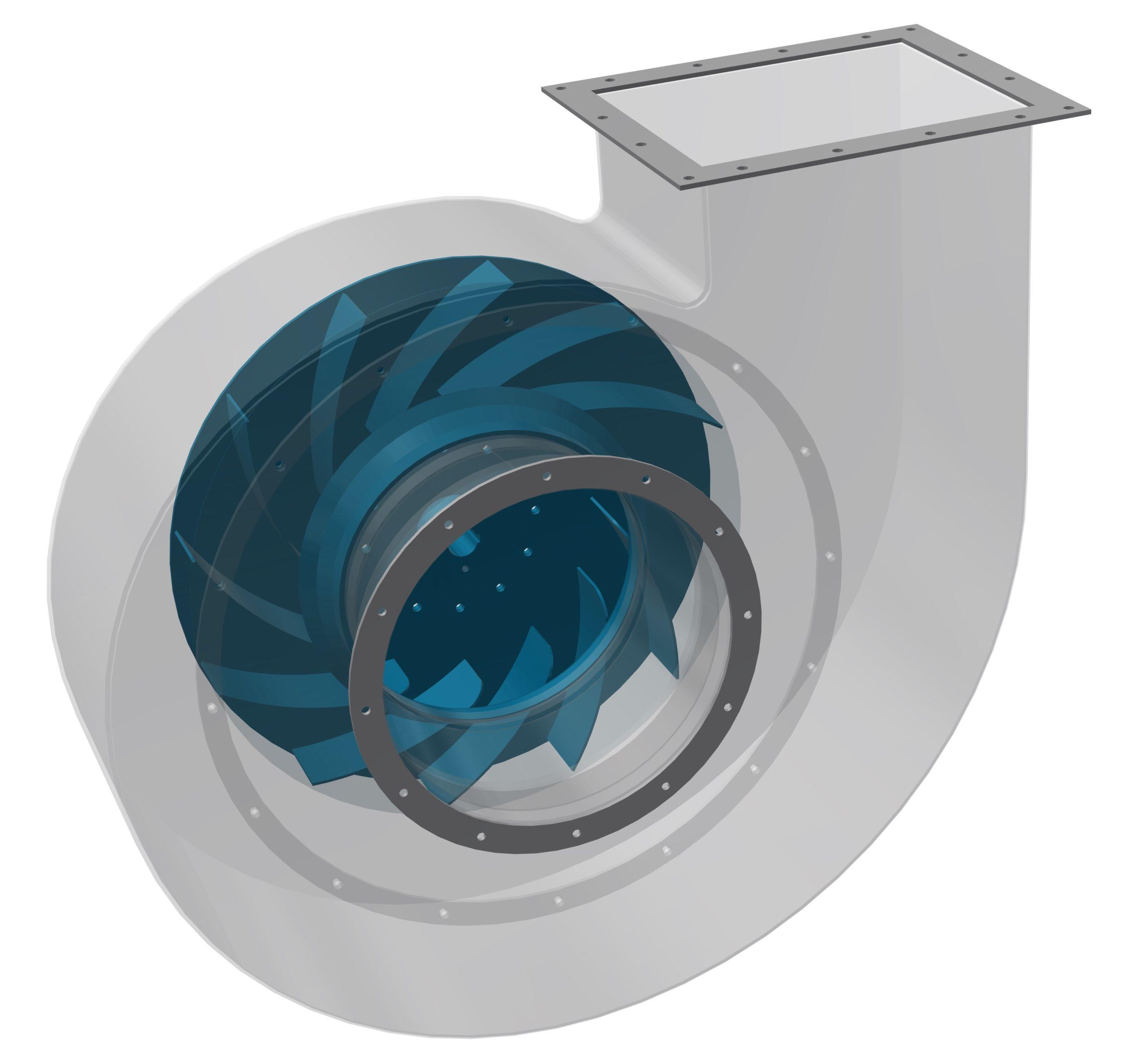 Obrázek radiálního ventilátoru